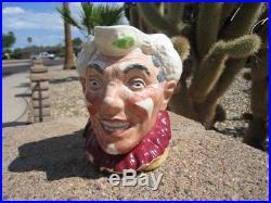 Rare Royal Doulton White Hair Clown Character Toby Jug D6322 Shaded Rim