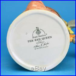 Rare Royal Doulton White The Red Queen D6777 Large Character Jug