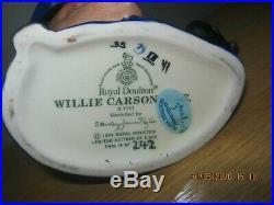 Rare Royal Doulton Willie Carson Character Jug Ltd Edition