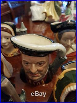 Rare Royal Doulton character jug Henry VIII & His Six Wives Complete Set