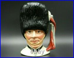 Rare Small Royal Doulton Character Jug THE GUARDSMAN WHITE TUNIC Colourway