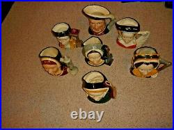 Rare Vintage Royal Doulton King Henry VIII And His Six Wives Character Toby Jugs