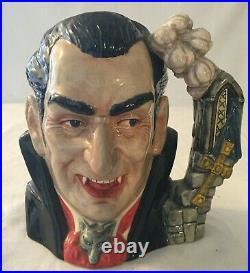 Royal Doulton 1997 Count Dracula D7053 Character Jug with Laminated COA No Box