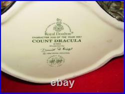 Royal Doulton 1997 Count Dracula Large Character Jug of the Year D7053 COA