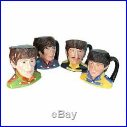 Royal Doulton 4 Character Beatles Jug Lot Ringo Starr, Paul Mccartney + Km