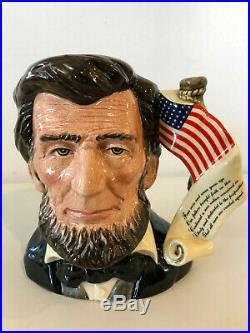 Royal Doulton Abraham Lincoln Character Jug, Limited edition, Large size