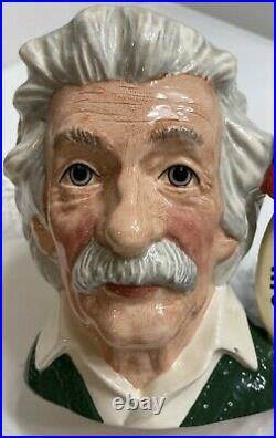 Royal Doulton Albert Einstein D 7023 Large Character Toby Jug Mint