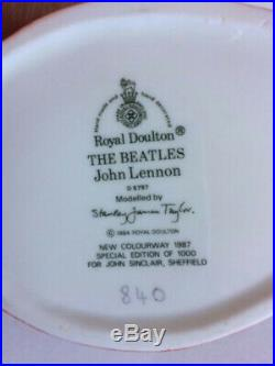 Royal Doulton BEATLES CHARACTER JUGS / Production Run + 1 / 1980s Museum Quality