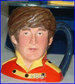 Royal Doulton BEATLES CHARACTER JUGS / Production Run + 1 RARE John Lennon A++