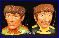 Royal Doulton BEATLES SGT PEPPERS CHARACTER JUGS / c. 1984 Retired / Excellent