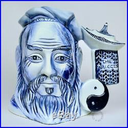Royal Doulton Blue Flambe Confucius Large Character Jug