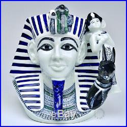 Royal Doulton Blue Flambe The Pharaoh Large Character Jug