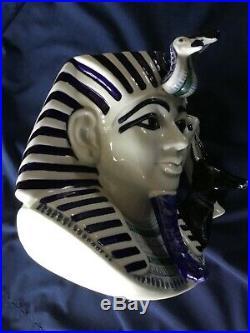 Royal Doulton Blue Flambe The Pharaoh Large Character Jug D7028. Mint