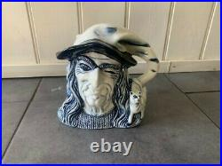 Royal Doulton Blue Flambe Witch Character Jug