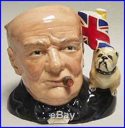 Royal Doulton CHARACTER JUG Winston Churchill Var 1