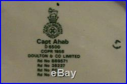 Royal Doulton Captain Ahab Character Jug D6500 Copyright 1958 Whale Handle
