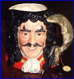 Royal Doulton Captain Hook D6947 Toby Character Mug Jug of the Year 1994 NIB