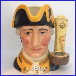 Royal Doulton Captain James Cook Large Character Jug D7077