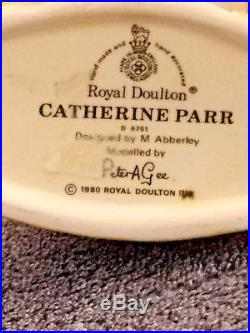 Royal Doulton Catherine Parr Small Toby Character Jug D6751