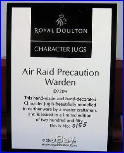 Royal Doulton Character Jug Air Raid Precaution Warden D7209 MIB