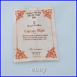 Royal Doulton Character Jug Captain Bligh D6967 Large Mug Toby w COA. PO RD4-3