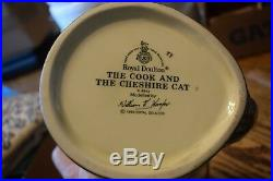 Royal Doulton Character Jug Cook And Cheshire Cat D6842 Alice in Wonderland
