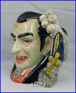 Royal Doulton Character Jug Count Dracula D7053 With Certificate