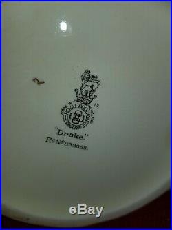 Royal Doulton Character Jug EXTREMELY RARE HATLESS DRAKE D6115