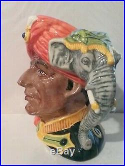 Royal Doulton Character Jug Elephant Trainer Higbee D6856 Large 7 1989 Ltd 250