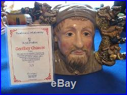 Royal Doulton Character Jug Entitled Geoffrey Chaucer, D7029, Large, #315
