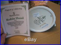 Royal Doulton Character Jug Entitled Robin Hood, Style 3, D6998, Double Handle