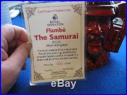 Royal Doulton Character Jug Entitled Samurai Warrior, Var 1, D7255, Flambe (31)