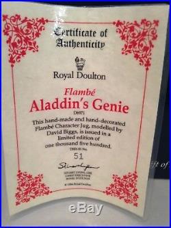 Royal Doulton Character Jug Flambe Aladdin's Genie No. 51 of 1500 D6971