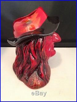 Royal Doulton Character Jug Flambe Witch D7239 Original Box COA #68 of 250 Produ