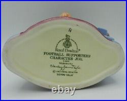 Royal Doulton Character Jug Football Supporter ASTON VILLA FC D6931