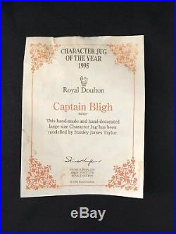 Royal Doulton Character Jug Large Captain Bligh D6967Mutiny on the Bounty/COA