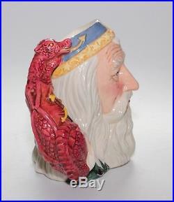 Royal Doulton Character Jug, Large, Merlin, D7117