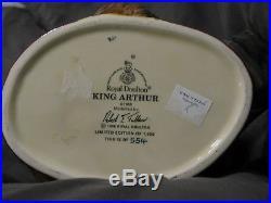 Royal Doulton Character Jug Large RARE, signed, King Arthur D7055