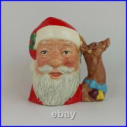 Royal Doulton Character Jug Large Santa Claus Reindeer D6675 0081 RD