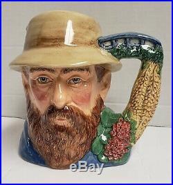 Royal Doulton Character Jug Large Toby Mug Claude Monet D7150 7-1/4 2000