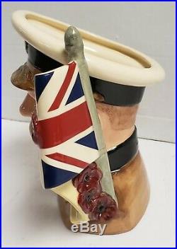 Royal Doulton Character Jug Large Toby Mug Lord Kitchener D7148 7-1/4 1999