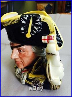 Royal Doulton Character Jug Large Vice-Admiral Lord Nelson D6932