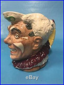 Royal Doulton Character Jug Large White Hair Clown