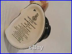 Royal Doulton Character Jug Mad Hatter Higbee D6790 Small 3 3/4 1987 Ltd 500
