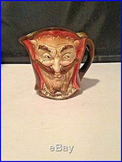Royal Doulton Character Jug Mephistopheles D5758 WithVerse Small RARE Very Good Co