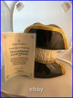 Royal Doulton Character Jug Mug Vice Lord Nelson -D6932 Jug Of The Year 1993