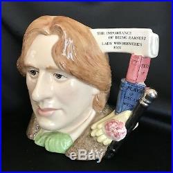 Royal Doulton Character Jug-Oscar Wilde- #D7146-Character Jug Year 2000-COA