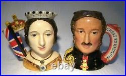 Royal Doulton Character Jug Queen Victoria D7072 Prince Albert D7073 Ltd Ed D4