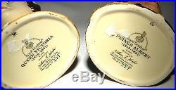 Royal Doulton Character Jug Queen Victoria & Prince Albert Ltd Ed D7072 D7073