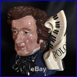 Royal Doulton Character Jug-RARE-Chopin-Great Composer Series/ Classical Music